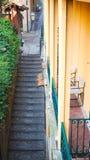 Narrow step walkway in Bellagio town Royalty Free Stock Photo