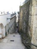 Narrow steps between buildings in old city