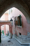 Narrow steps in sibiu Stock Images