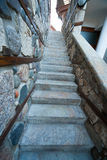 The narrow stone staircase on the waterfront in Sozopol, Bulgaria Stock Image