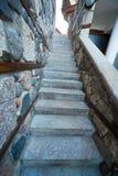 The narrow stone staircase on the waterfront in Sozopol, Bulgaria Stock Image
