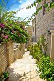 Narrow stone street in Hvar Royalty Free Stock Photo