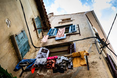 Narrow Stone Street of Old Rovinj Royalty Free Stock Photography