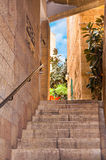 Narrow stone streets of ancient Israel Stock Photography