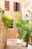 Narrow stone streets of ancient Israel Royalty Free Stock Images