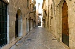 Narrow street. In Palma, Mallorca Stock Photography