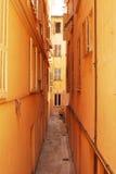 Narrow street. A narrow street - Monaco - France Royalty Free Stock Photos