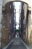 Narrow street. Passage between two old buildings, Toronto, Canada Royalty Free Stock Photo