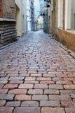 Narrow street. Old town in Tallinn. Estonia Stock Images