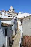 Narrow street. In Marvao, Portugal stock photo