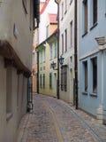 Narrow Street. A narrow street in olod town of Riga, Latvia Royalty Free Stock Photography