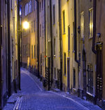 Narrow street. A narrow street in the Old Town of Stockholm, Sweden Stock Image