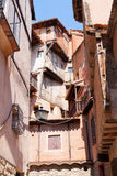Narrow street of  Albarracin Stock Photos