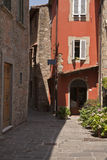 Narrow Street in Alto Montecatini Stock Photo