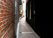 Narrow Street in Amsterdam Stock Images