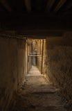Narrow street of ancient Medina in Fes, Morocco Stock Image