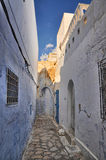 Narrow street of ancient Medina, Hammamet, Tunisia, Mediterranea Stock Photography