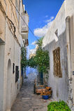 Narrow street of ancient Medina, Hammamet, Tunisia, Mediterranea Royalty Free Stock Photography