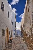 Narrow street of ancient Medina, Hammamet, Tunisia, Mediterranea Stock Images
