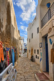 Narrow street of ancient Medina, Hammamet, Tunisia, Mediterranea Royalty Free Stock Images
