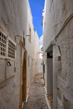 Narrow street of ancient Medina, Hammamet, Tunisia, Mediterranea Royalty Free Stock Photos
