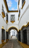Narrow street in the ancient Ronda Royalty Free Stock Image