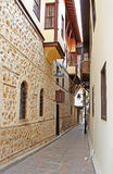 Narrow Street in Antalya stock image