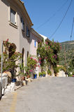 Narrow street in Assos Stock Photography