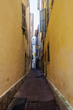 Narrow street in Bayonne Stock Photos