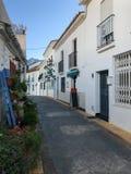 Narrow street in the Benalmadena Pueblo, Malaga, Spain Royalty Free Stock Photos