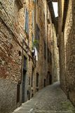 Narrow street in Bergamo Royalty Free Stock Photos