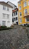Narrow street. In Bergen Norway Stock Image