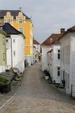 Narrow street. Street in Bergen Norway Stock Image