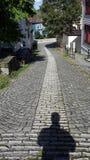 Narrow street in Bergen. Norway. royalty free stock images