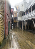 Narrow street of Bergen Royalty Free Stock Photos