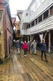 Narrow street of Bergen Royalty Free Stock Photo