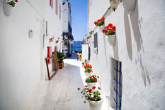 Narrow street in Bodrum Stock Photo