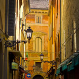 Narrow street in Bologna Royalty Free Stock Photo
