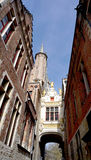 Narrow street in Bruges Stock Photo