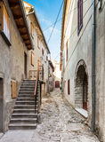 Narrow street in Buzet Royalty Free Stock Photography