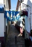 Narrow Street in Camara de Lobos  is a fishing village is near the city of Funchal a Stock Image