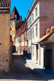 Narrow street in the center of an old town Royalty Free Stock Photos