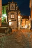 Narrow Street of Cesky Krumlov Royalty Free Stock Photography