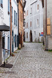 Narrow Street of Cesky Krumlov Royalty Free Stock Photos
