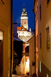 Narrow Street of Cesky Krumlov Royalty Free Stock Images
