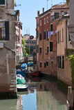 The narrow street - channel in Venice Royalty Free Stock Photo