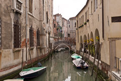 The narrow street - channel in Venice Royalty Free Stock Photography