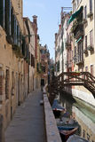 The narrow street - channel in Venice Royalty Free Stock Image