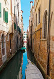The narrow street - channel in Venice, Italy Royalty Free Stock Photo