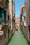 The narrow street - channel in Venice, Italy Stock Photography